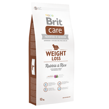 Brit Care Weight Loss Rabbit & Rice - karma dla psów z nadwagą, op. 12 kg
